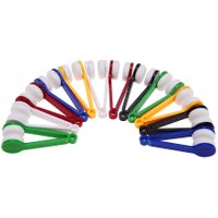12pcs Portable ABS Glasses Sunglasses Eyeglass Spectacles Cleaner Brush Wiper Wipe Kit Household Cleaning Gadgets Tools