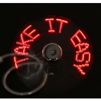 USB Gadgets Mini DIY Programmable Fan Flexible LED Red Light Can Reprogramme Text Words Advertising Character Messages